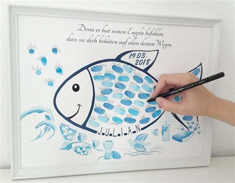 der fingerabdruck fisch zur taufe ist eine originelle
