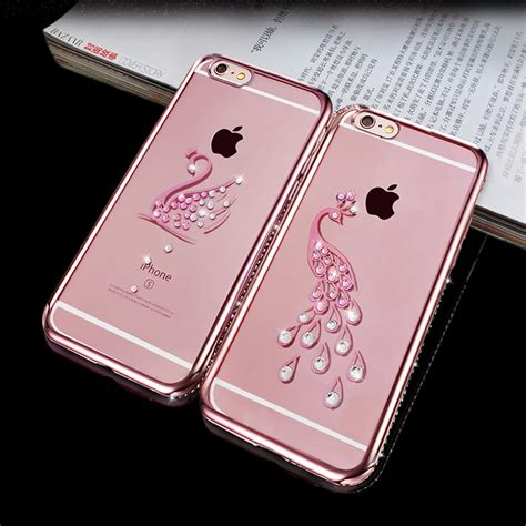 Iphone 6 Plus Luxury Bling Gold Casing Cover Bumper fashion rhinestone silicone for iphone 6 6s 6s plus glitter luxury 3d cover