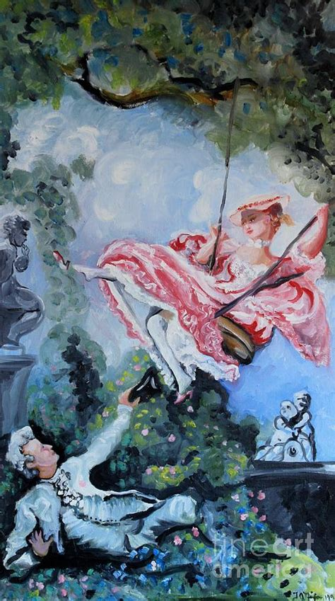 lady on swing swing lady painting by thomas j nixon