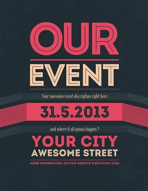 design event flyer how to create a hierarchy with fonts and visual elements