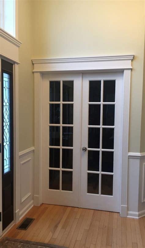 Foyer Built Ins Fluted Door Casing Amp Header 214 Crown Molding Nj Llc