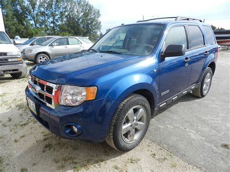2008 Ford Escape Xlt by 2008 Ford Escape Xlt 4wd 227 721km Penner Auction