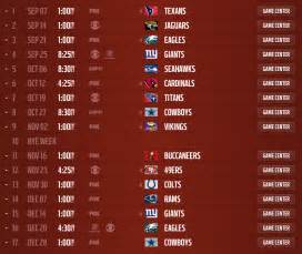 washington redskins 2014 schedule released