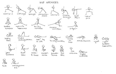 printable stick figure yoga poses work it out wednesday hip o o openers bexlife by