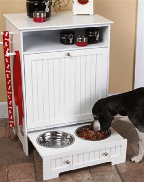dog cabinet dishes feeders fountains dog pet food container cabinet