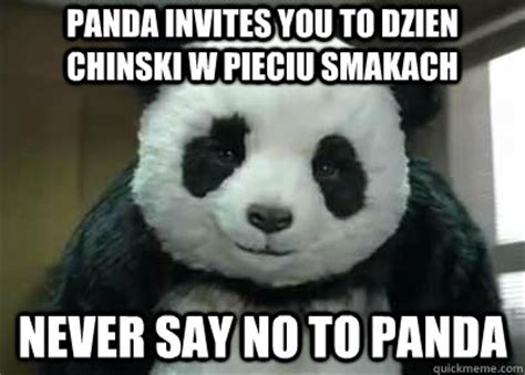 Panda Mascara Meme - never say no to panda memes quickmeme