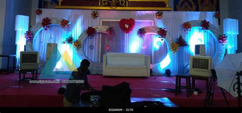 Decoration Reception by Wedding Reception Decoration At Sai Baba Kalyana Mandapam