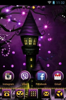 theme line halloween android purple skies halloween android theme for go launcher