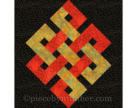 Knot Quilt Pattern Free by Eternity Knot Quilt Block Paper Piecing Quilt Patterns Pdf