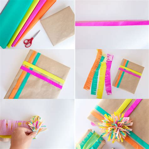 With Tissue Paper - 3 ways to wrap with tissue paper tell and