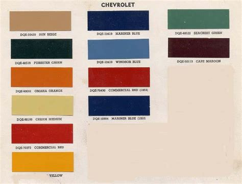 paint color chart 1946 gmc truck autos post