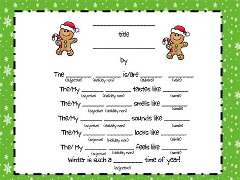 winter poetry pack using thinking maps and the 5 senses