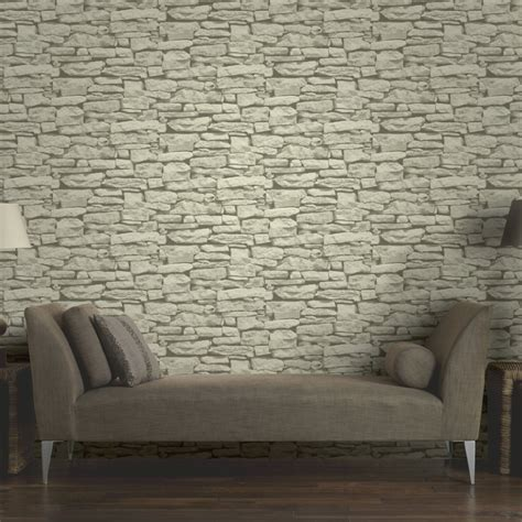 wallpaper wall effect arthouse vip moroccan stone wall brick photographic