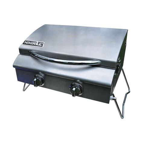 nexgrill grills portable 2 burner stainless steel propane gas table top grill 820 0015