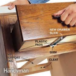 fixing drawers how to make creaky drawers glide the