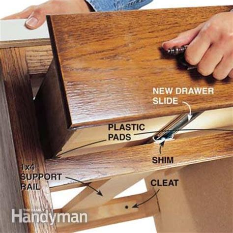 How To Fix A Broken Drawer Track by Fixing Drawers How To Make Creaky Drawers Glide The