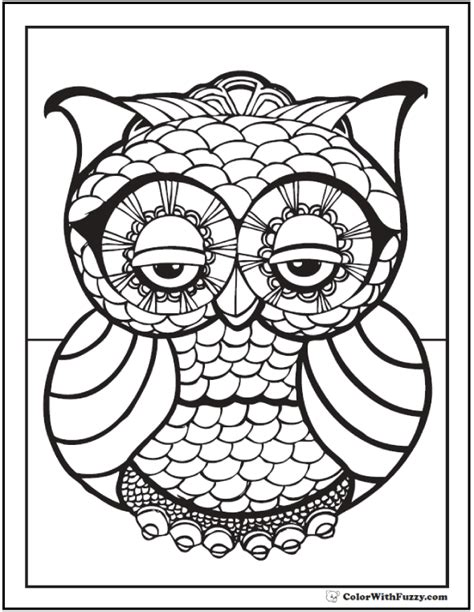 owl coloring pages pdf 70 geometric coloring pages to print and customize
