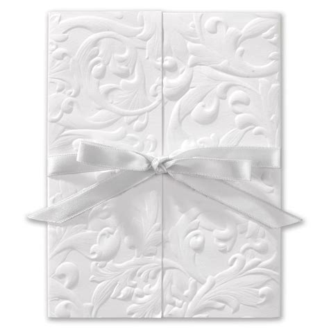 Wedding Invitations And White by Vintage With Ribbon White Invitation Invitations By