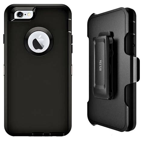 ecl usa iphone 6s plus 6 plus with belt clip holster screen protector black ebay