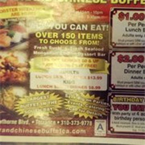Grand China Buffet Closed Chinese Torrance Torrance Vegas Buffet Coupon