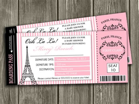 Boarding Pass Baby Shower Invitations by Printable Baby Shower Invitations By Dazzle Expressions