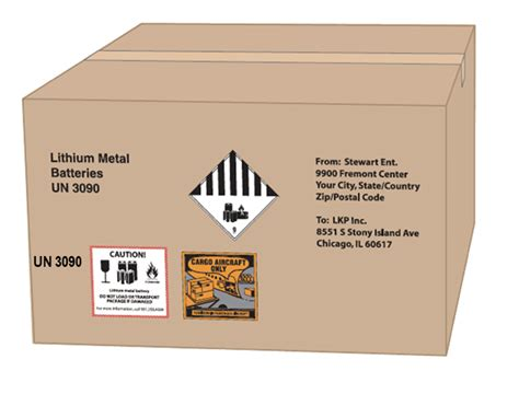 Printable Lithium Battery Shipping Label Satu Sticker Lithium Ion Battery Label Template