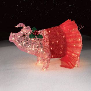 32 quot pig with tutu christmas lights pretty in pink