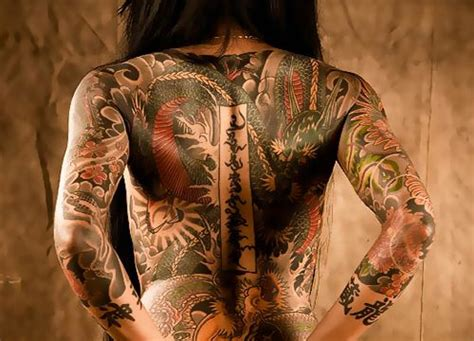 tattooed asian girl asian back inked ink b o d y a r
