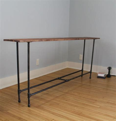 black pipe sofa table diy industrial pipe console table on mr and mr blandings