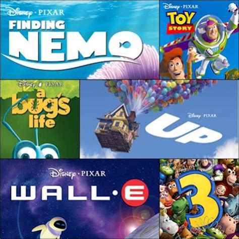 best pixar at the back six of the best pixar features