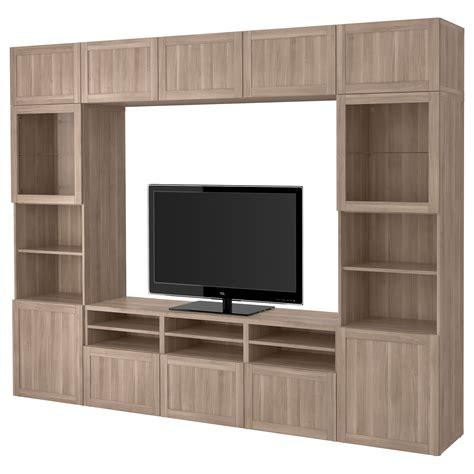besta walnut ikea best 197 tv storage combination glass doors walnut