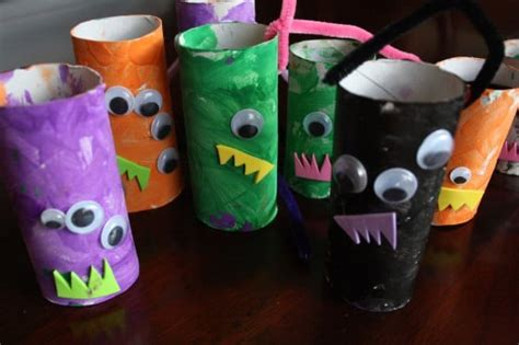 toilet paper you monster monster mobile toilet roll craft happy hooligans