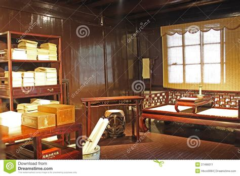 chinese ancient study room stock image image