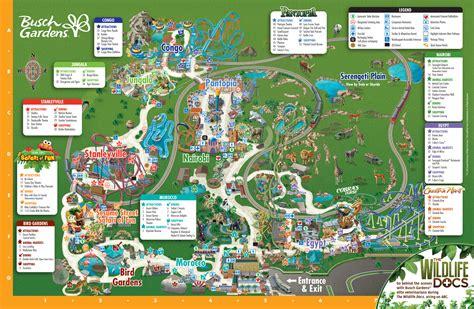 park map busch gardens ta bay