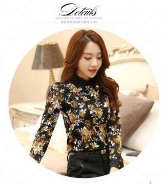 Kemeja Wanita Motif Bunga 287 baju atasan motif bunga terbaru 2016 model terbaru