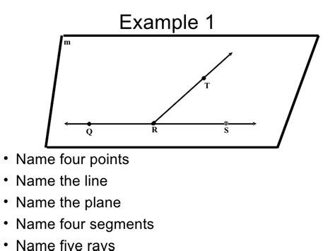 name the line and plane shown in the diagram plane geometry