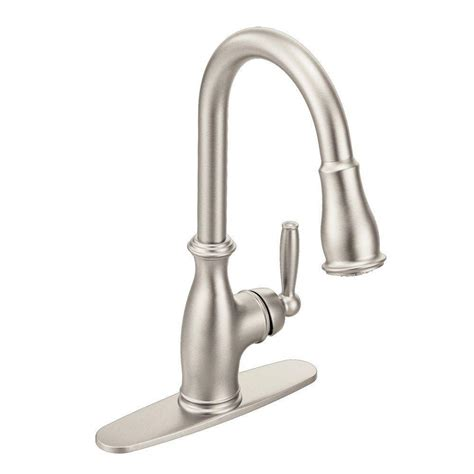 brantford kitchen faucet moen brantford single handle pull sprayer kitchen