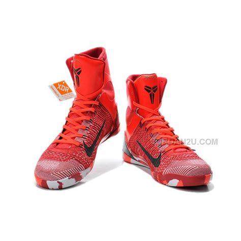 nike kobe 9 elite christmas high top crimson red price