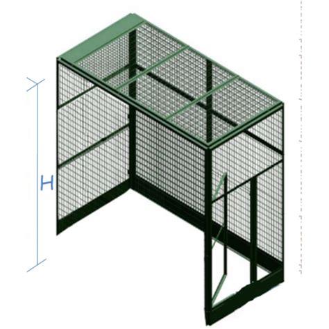gabbie modulari voliera zincata per esterno a 3 pannelli modulari standard