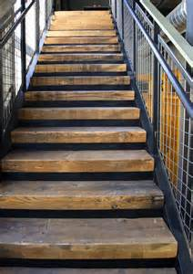 Timber For Stair Treads by Uncommon Treads Reclaimed Wood Stairs