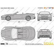 The Blueprintscom  Vector Drawing Aston Martin DBS Volante