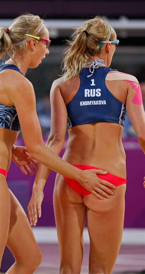 hot womens beach volleyball malfunctions evgeniya ukolova and ekaterina khomyakova women of
