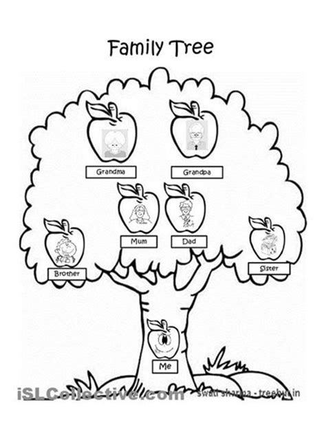 Trees family tree worksheet and end of on pinterest