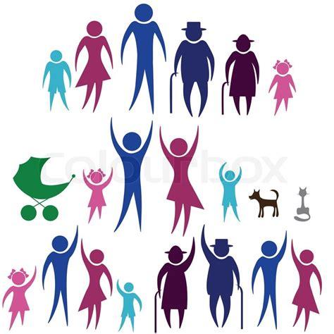 clipart persone menschen silhouette familie symbol person vektor frau