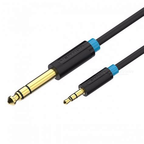 vention 3 5mm to 6 35mm adapter aux cable for mixer lifier gold plated 3 5 to 6 5