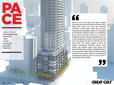 Architectural Project Manager Description by Pace Condos Architecture Description From Project Website Www Thetorontoblog