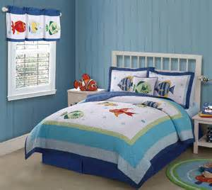 fish quilt bedding set in twin and full queen with