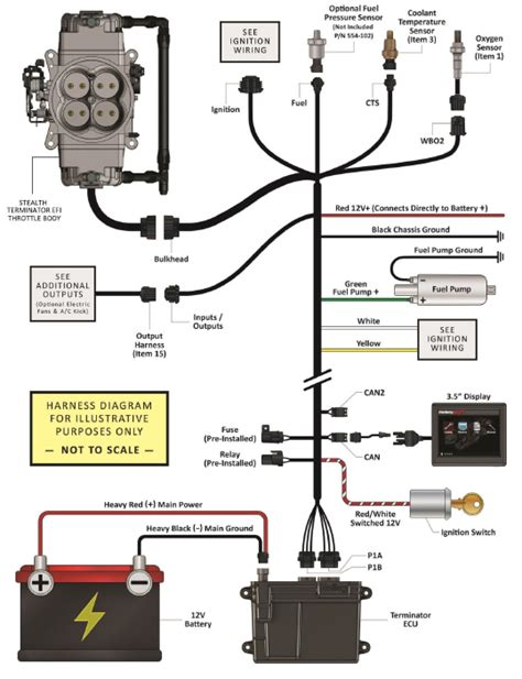 holley dominator efi wiring diagram holley input output