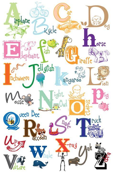 printable alphabet poster kids alphabet poster digital file diy printable art