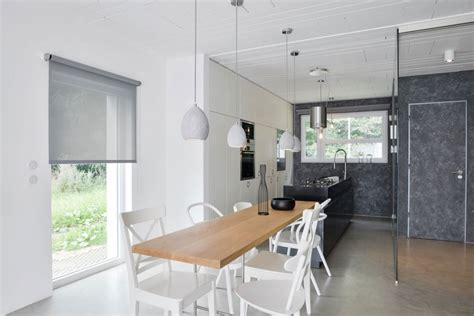 kitchen island with table extension the coziness of a family home captured in black and white